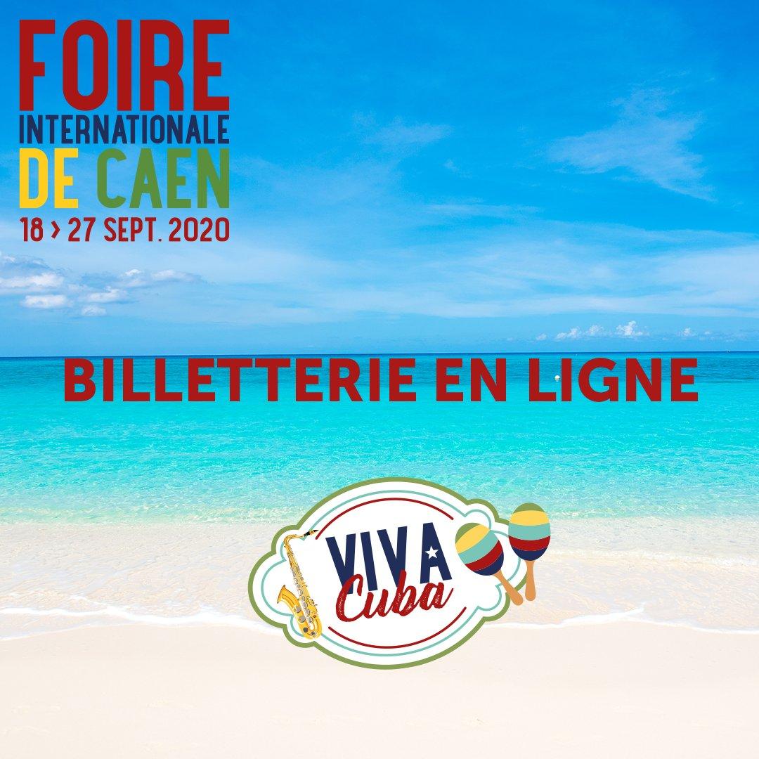 LA BILLETTERIE DE LA FOIRE 🔔🔔  Profitez de la billetterie en ligne, la #FoiredeCaen vous fait profiter d'un tarif avantageux. 🎟🎫 Achetez votre entrée 5 € au lieu de 7 €.💶🎉  ➡️ https://t.co/CYcVnyR0Of  #FoiredeCaen #Cuba #Caen #ParcExpo https://t.co/d6QQCEb8u5