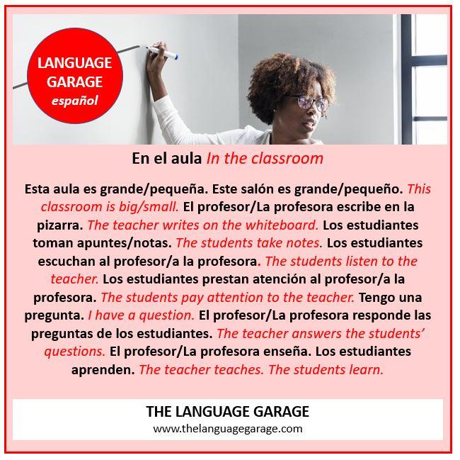 En el aula. In the classroom: #Spanish #vocabulary for talking about #school #university #backtoschool. #learnspanish #español #aprenderespañol #languages #languagelearning #onlinelearning https://t.co/FvhyFQU25t https://t.co/n6huhGlL75