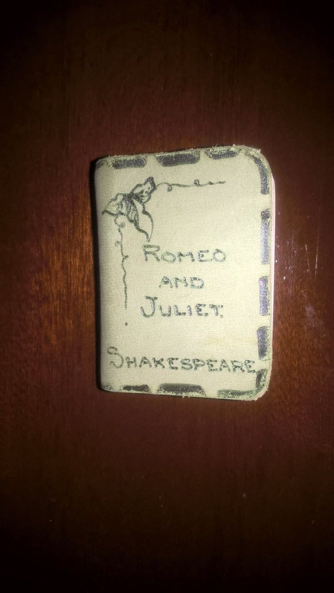I found my miniature Shakespeare Romeo & Juliet book in a Save The Children charity shop cabinet. It cost £2, and I remember how I have always tried to find out more information about the little book. #ObjectMemories #WMWhereNext @World_Museum https://t.co/rNxZf8L5D5