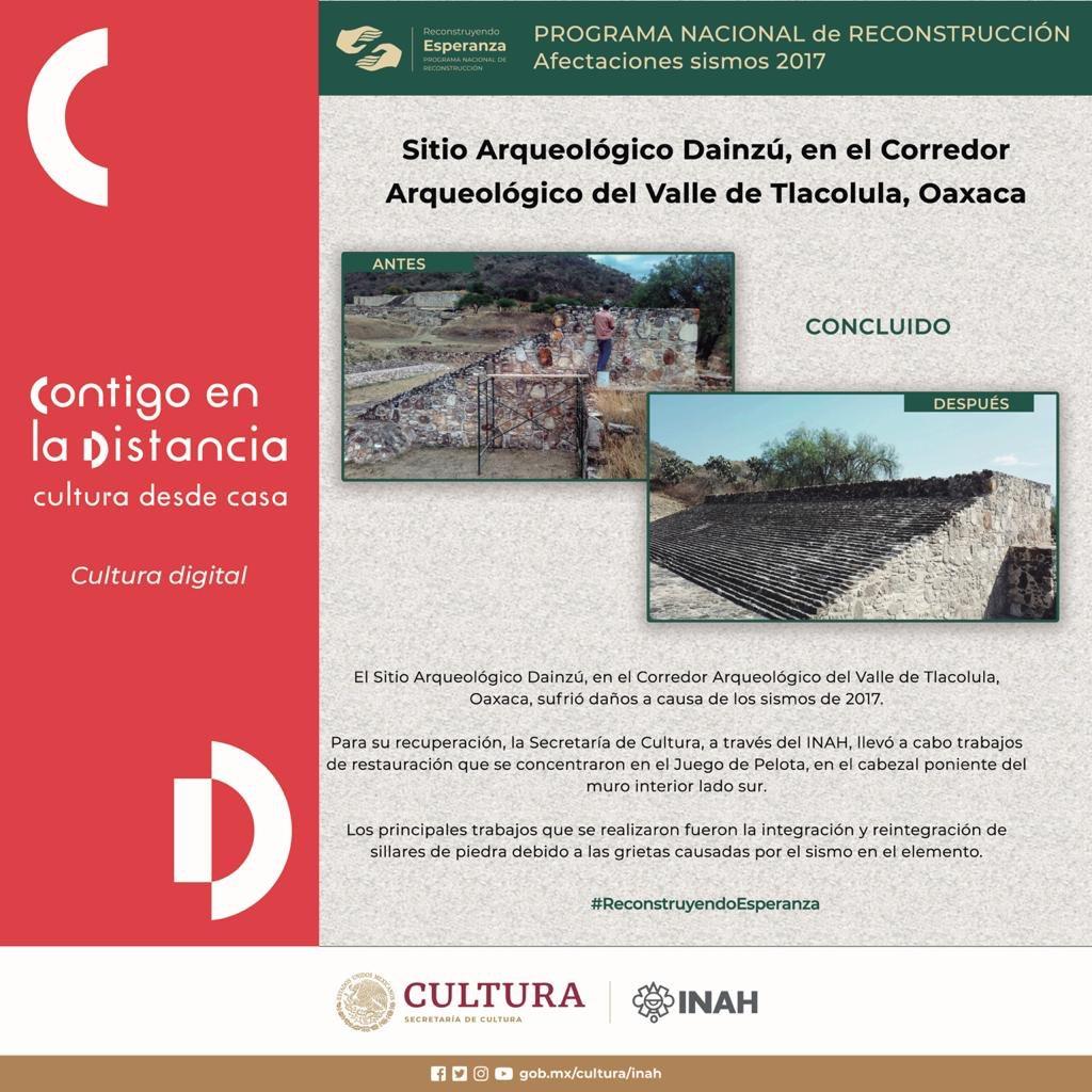 #ReconstruyendoEsperanza en Valle de Tlacolula, Oaxaca 🏗  🔶 Antes y después del Sitio Arqueológico Dainzú. https://t.co/IwtwtBADWl