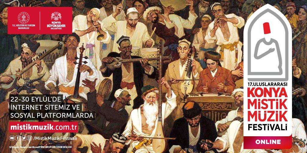 Hz. Mevlâna'nın 813. doğum yıl dönümü münasebeti ile gerçekleştirilecek olan 17. Uluslararası Konya Mistik Müzik Festivali 22 Eylül'de online formatta başlıyor!  Festivalimizi https://t.co/YGXYeMdECe adresinden takip edebilirsiniz.  #mistikmüzikfestivali #konya #rumi https://t.co/UZnunJmBh8