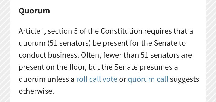 @vespertilioAJR How about the Senate's quorum rules to stop/slow down the confirmation process: https://t.co/sJ4Fe64I7B