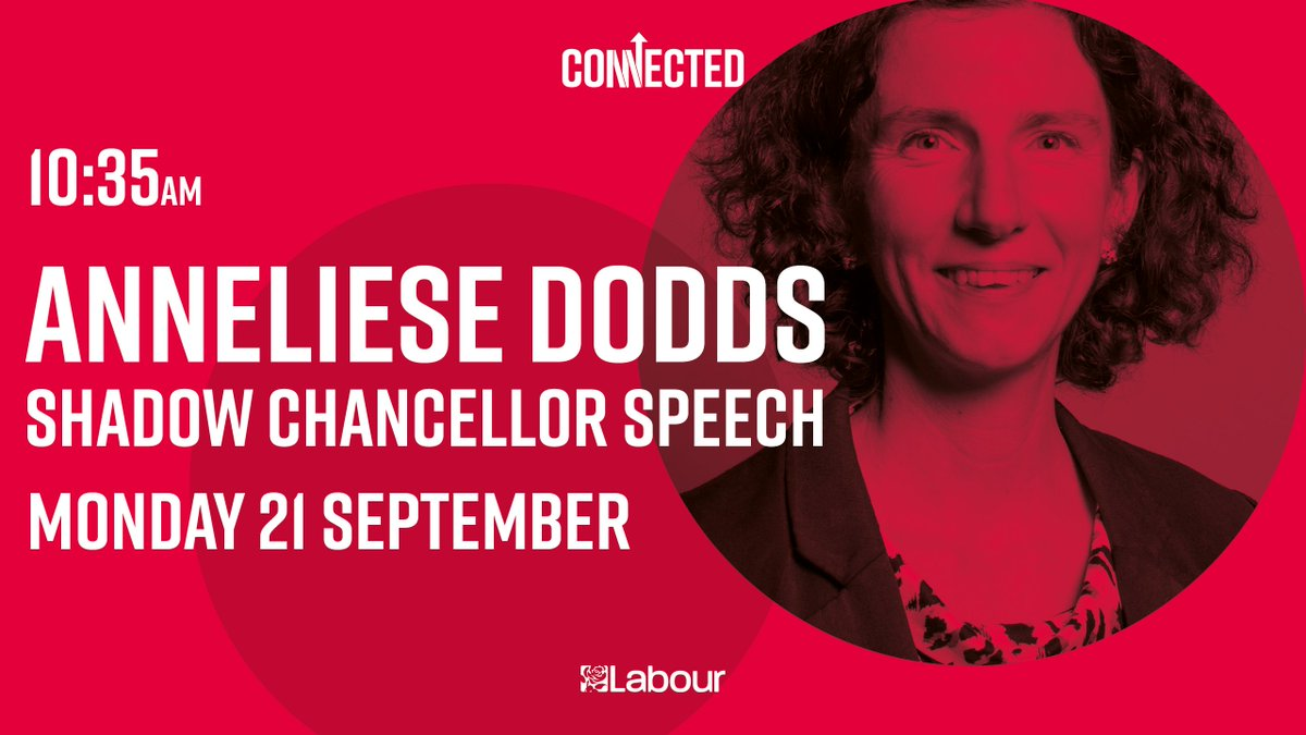 Tune in at 10:35 for Shadow Chancellor @AnnelieseDodds' keynote speech at #Lab2020. You won't want to miss it 🌹