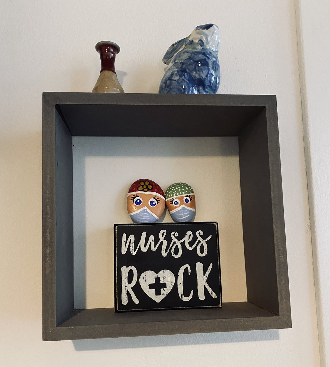 Nurse rocks - https://t.co/GaKHSZy3XS  #rocks #rockpainting #nurse #rn #lpn #gift #favors #nursesweek #painting #art #artsandcrafts #nursesrock #COVID19 #coronavirus #COVID #fromrox2riches https://t.co/XiA6CWNqcA
