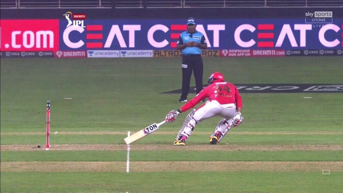 I don't agree with the man of the match choice . The umpire who gave this short run should have been man of the match.  Short Run nahin tha. And that was the difference. #DCvKXIP https://t.co/7u7KKJXCLb