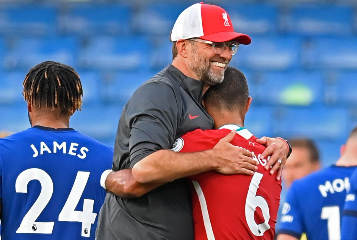"""Jurgen Klopp on Thiago: """"He's fit - he's a top player - he is not used to our things so he needs to get used to his mates. It was the perfect game [to bring him on]. Defensively it was tricky for him but offensively, that's him."""" (Sky Sports) https://t.co/ZLJQEtyeZ5"""