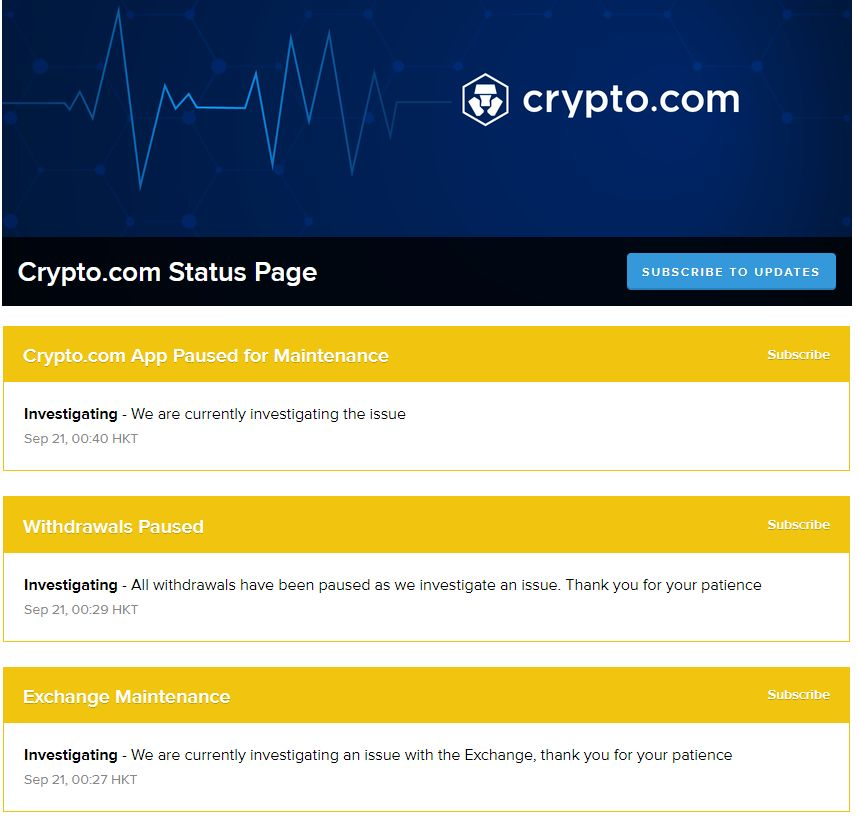 ☠Has @cryptocom been hacked?   ⛑This is why you want a crypto debit card like $SXP with Binance #SAFU to insure your funds.  🔥Everything is ok until is not $CRO.  💎Be #SAFU, opt for $SXP or Binance Card.  @JLSwipe @cz_binance $BNB https://t.co/EBJEKsIK3c