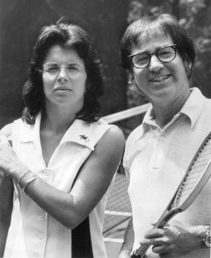 """On September 20, 1973, Billie Jean King defeated Bobby Riggs in a tennis match dubbed """"The Battle of the Sexes. #ThisDayInHistory"""