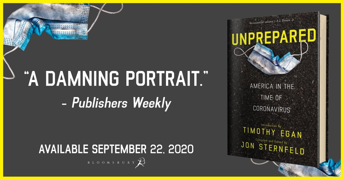 With an introduction by Pulitzer Prize-winner @nytegan, UNPREPARED is the riveting, eye-opening first-draft history of the Covid-19 pandemic.  UNPREPARED by @JonSternfeld will be available on 9/22!  https://t.co/A5BC17N4DH https://t.co/e9RvvrUUaE