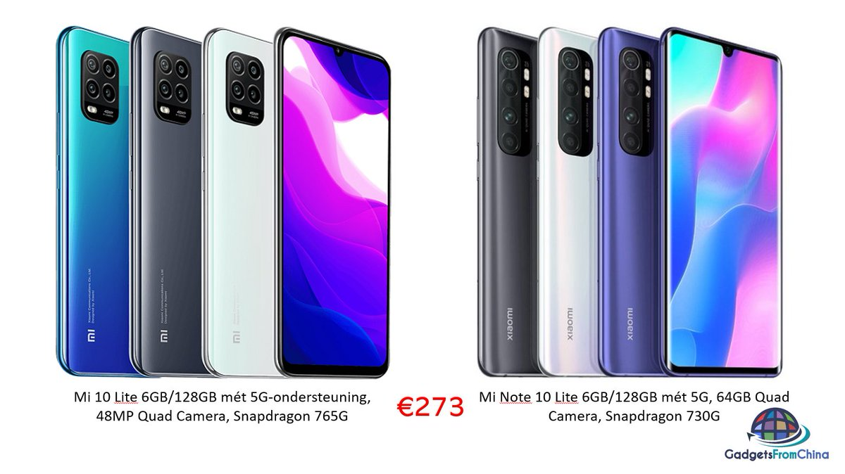 test Twitter Media - :-D De Xiaomi Mi Note 10 Lite én de Mi 10 Lite nu beide €273 met onze #couponcode!! Hele gave en vooral snelle #Smartphones!!  Mi Note 10 Lite 6GB+128GB: https://t.co/2nqlZL8EfX (BG9N10L)  Mi 10 Lite 6GB+128GB: https://t.co/dfUY7T1QuZ (BG9X10L) https://t.co/GjmYO3v2A7