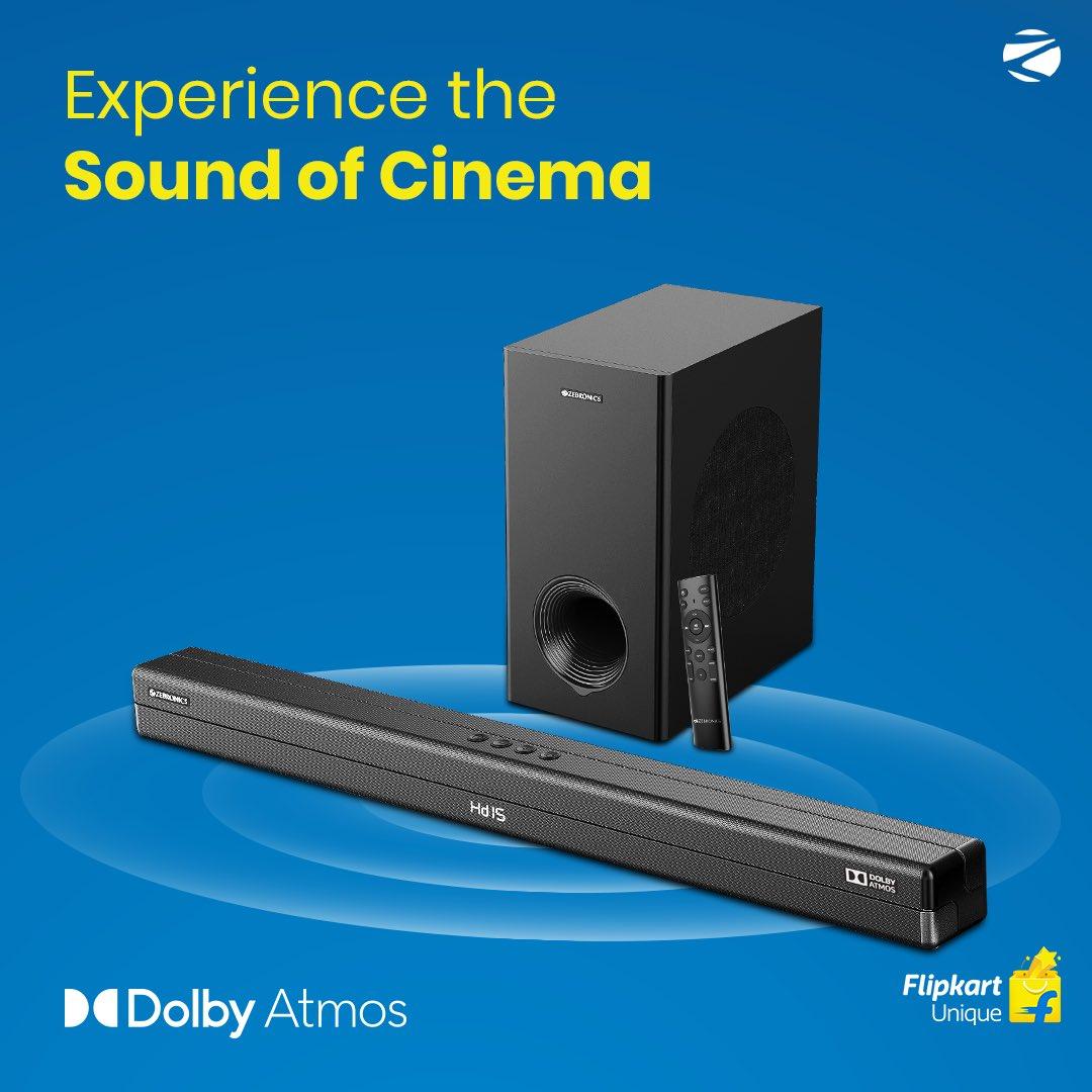 SALE IS LIVE!  Get 1st Indian Brand's Dolby Atmos Soundbar: Zeb Juke Bar 9700 for Rs.17,999 ONLY! Available on @Flipkart – https://t.co/ntKK2fpfrZ   #DolbyAtmos #Soundbar @DolbyIn https://t.co/Y4NzYwKkHy