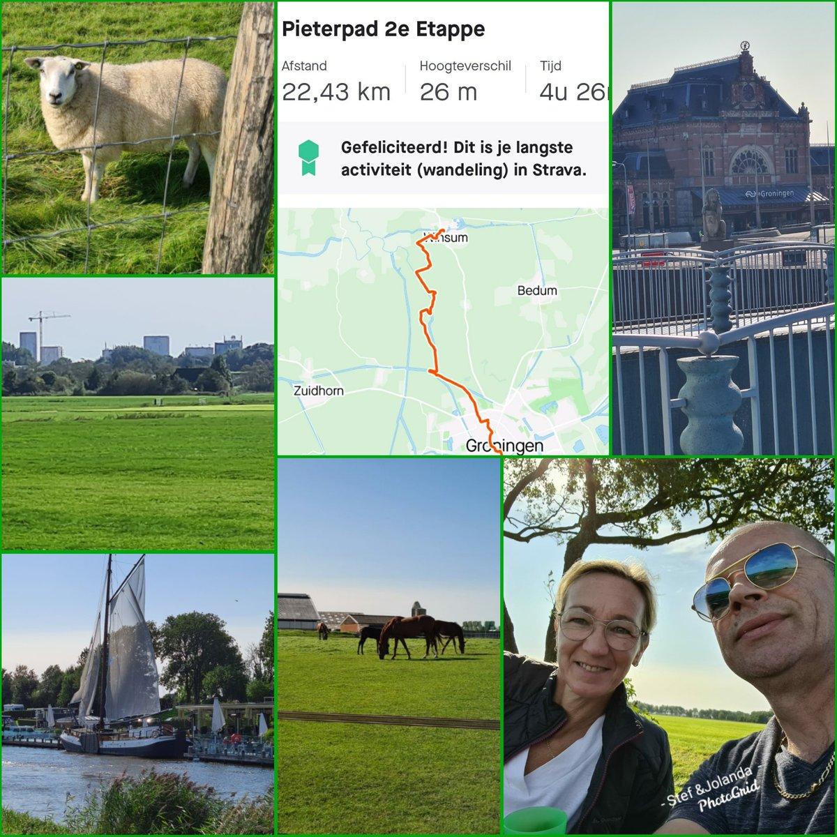 Gisteren 2e Etappe #Pieterpad gelopen! 22,43 km #trots #winsum #groningen #wandelen #nature #hikingadventures #hiking https://t.co/041zvyukNv