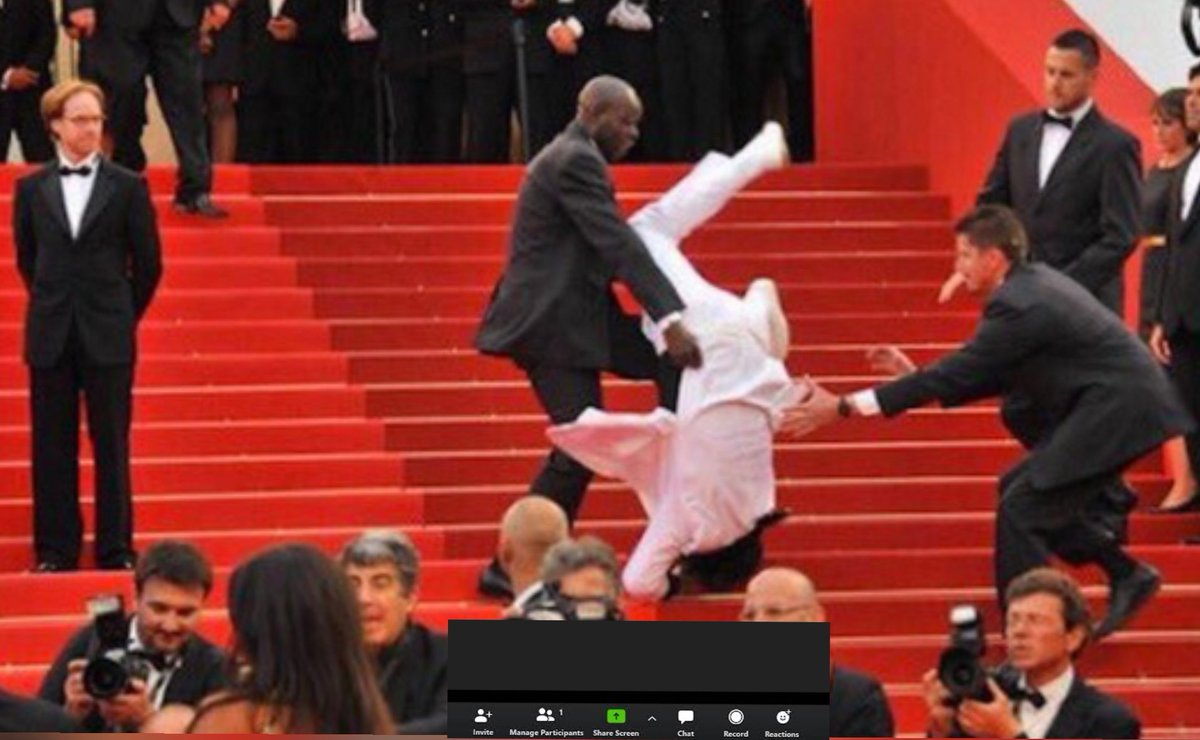 Jason Derulo has fallen down the stairs at the Emmys on Zoom