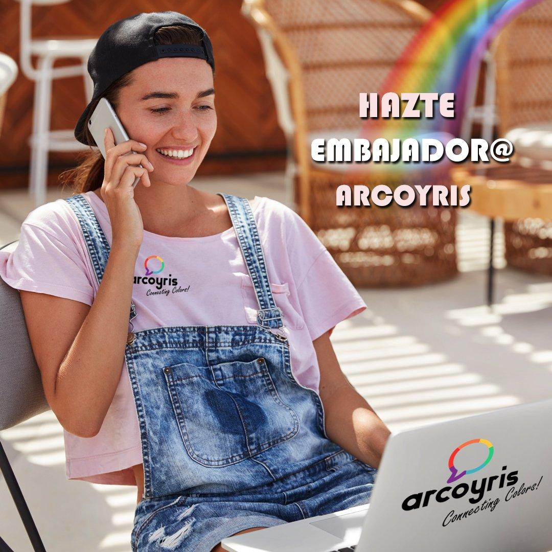 ¡Hazte EMBAJADOR@ de ARCOYRIS! Forma parte de una gran marca, tecnológica, comprometida, diversa,... y logra importantes incentivos.  https://t.co/7QVGyzbZvG  #arcoyris🌈 #movil #telefonia #lesbianas #lesbianasespaña #chicaslesbianas #mujereslesbianas #lgtbi #lgtb #lgbt #lesbiana https://t.co/fY8SPN3Zbi