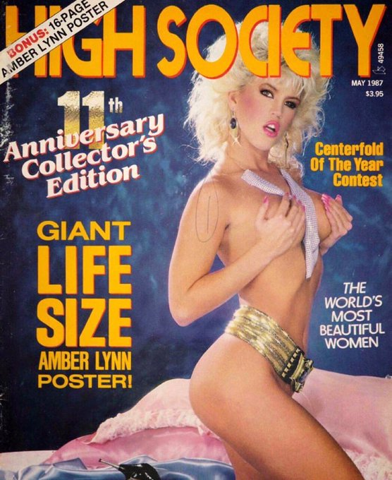 1 pic. High Society 11th anniversary collectors edition #AmberLynn #ambermania #covergirl #centerfold