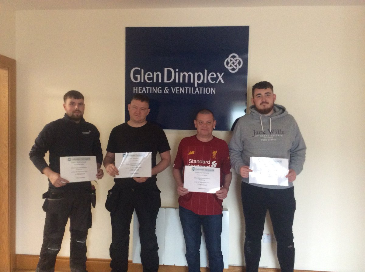 Members of @GlenDimplex #Heating & @Ventilation @Newry who took part in a #First #Aid #Course https://t.co/LeTiMTAfI5