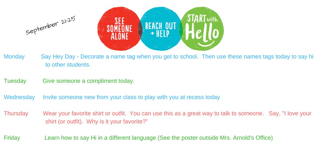 @Longbranch_Elem will celebrate Start with Hello Week this week #MISDProud #startwithhello #inclusion #leadlovelearn