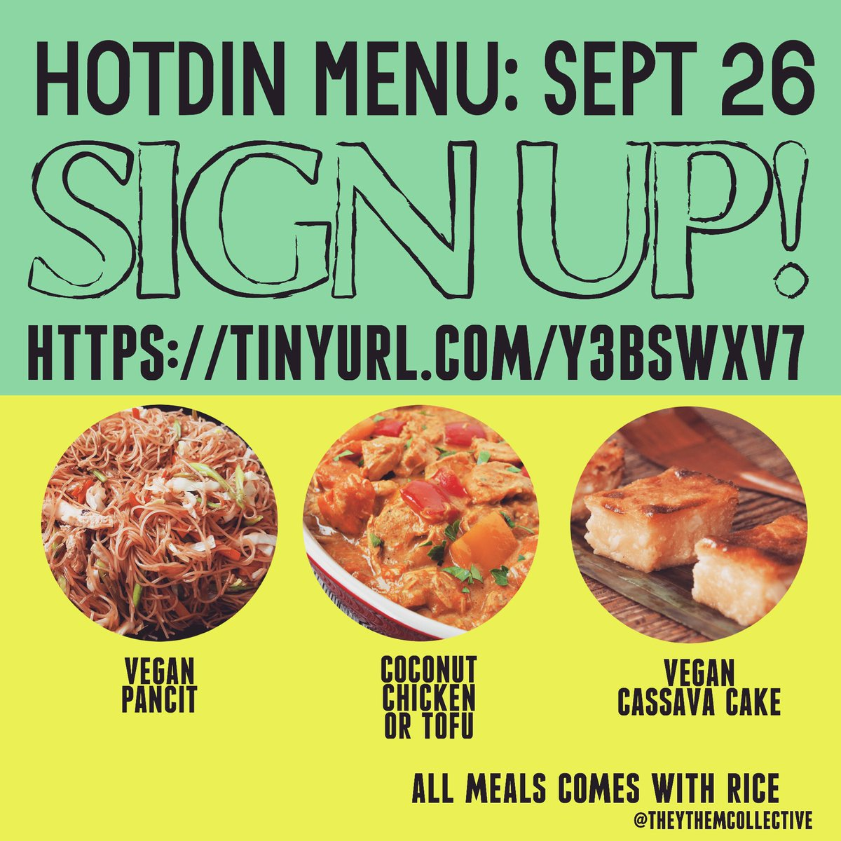 THEY/THEM Collective #HotDin menu is up! #DC community members can now sign up for a hot #Filipinx meal! (We are still looking for a donated kitchen space!) #DCProtests #WeKeepUsSafe https://t.co/s3jgOZ7baP