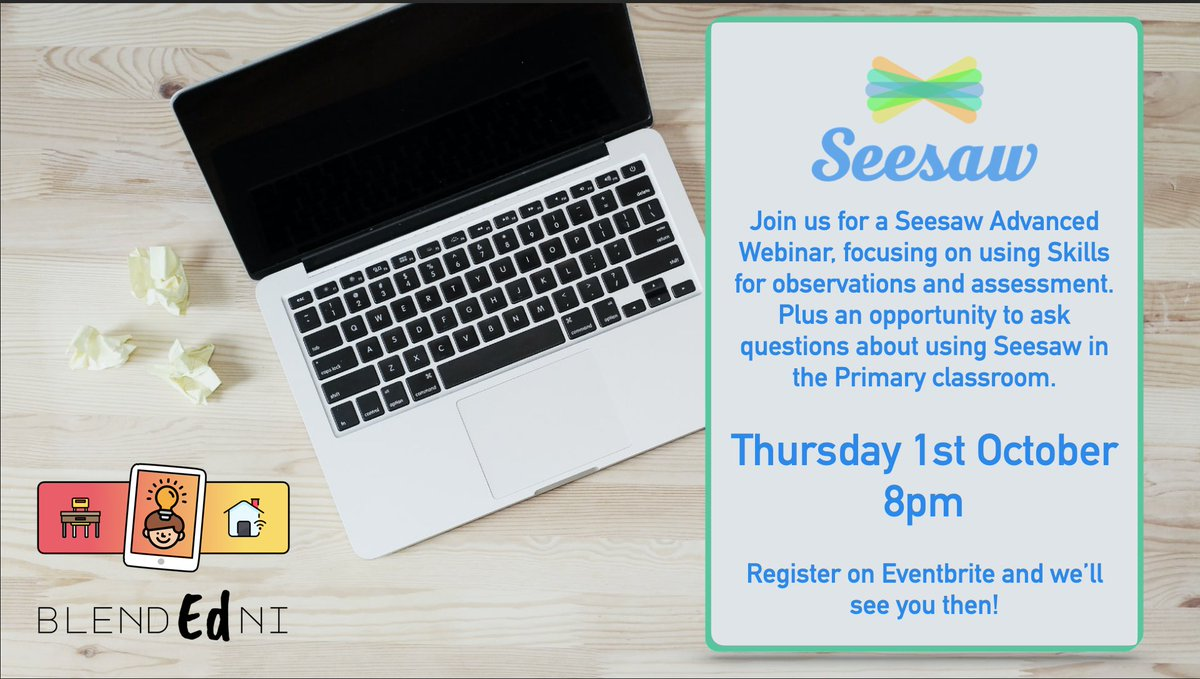 🟠 Seesaw Sessions 🟠 Our second Seesaw evening course is for advanced users who are wanting to explore Skills and delve deeper into @Seesaw Check out the event details carefully to submit questions beforehand. Register here: https://t.co/LFEMq12IbV https://t.co/LLz1jnnxVe