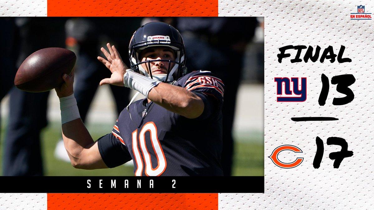 Los Bears obtienen su segundo triunfo de la campaña al derrotar a los Giants 🐻🔥🏈 #NFLEspañol #NYGvsCHI #DaBears #TogetherBlue