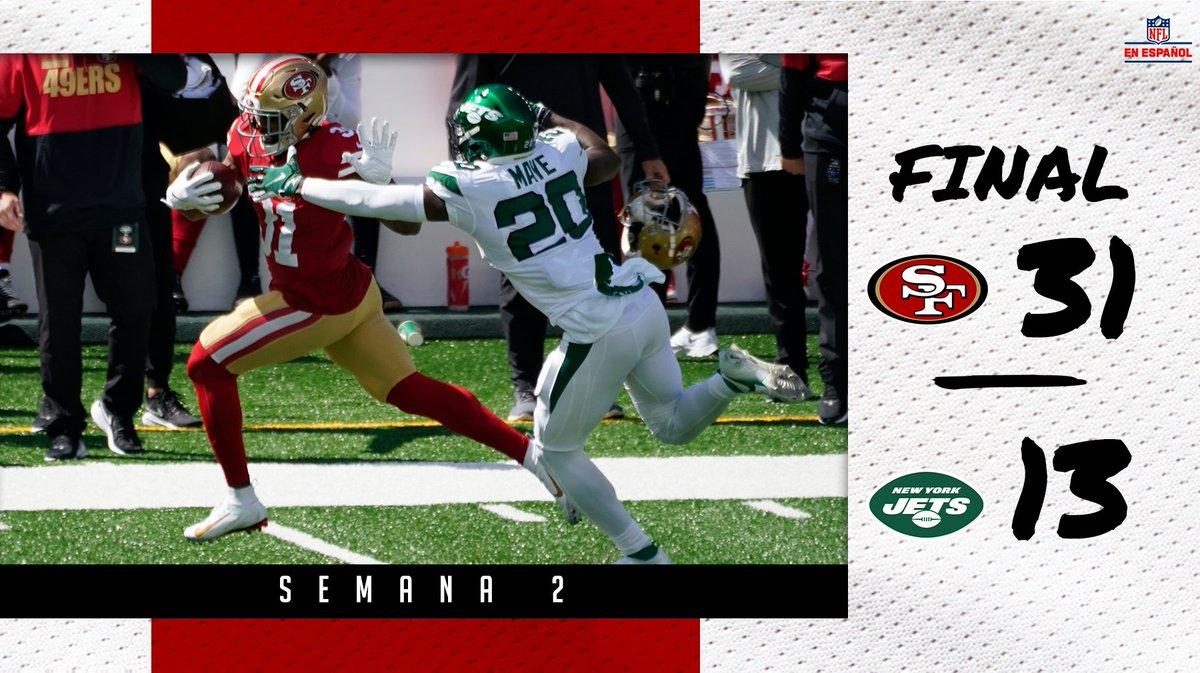 Con muchas lesiones, los @49ers se llevaron la victoria antes los @nyjets 🏈 #SFvsNYJ #NFL #FTTB