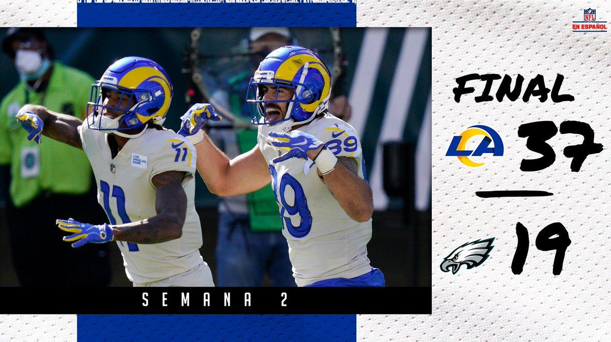 ¡Los Rams inician la temporada con un récord de 2-0 después de derrotar a Eagles a domicilio! 👀👏 #RamsHouse #NFLEspañol