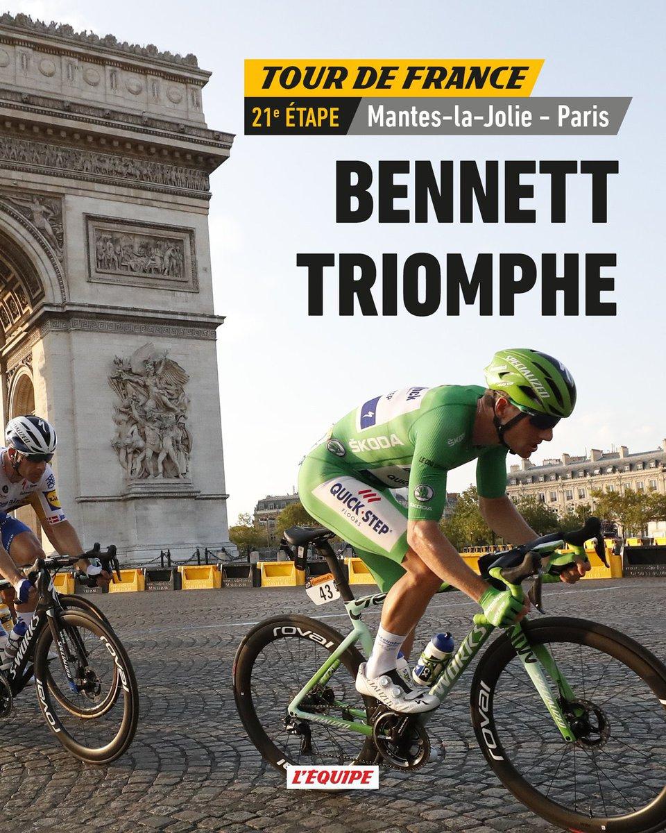 Cyclisme - Tour de France 2020 Classement de la 21 étape Mantes la Jolie/Paris Champs Élysée.  1er Sam Bennett 🇮🇪  2ème Mads Pedersen 🇩🇰 + 0 3 eme Peter Sagan 🇸🇰 + 0  #20/09/20 #tdf2020 https://t.co/pg8xrsc5br