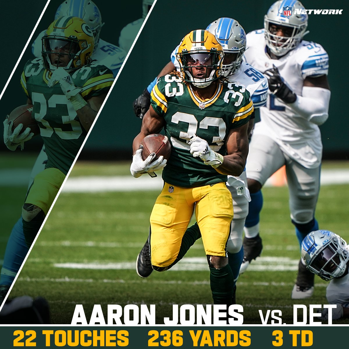 Aaron Jones could not be stopped 💪 @Showtyme_33   @packers