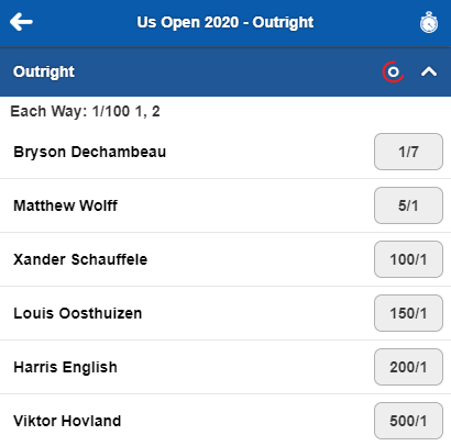 ⛳ | Bryson DeChambeau leads by 3 at the #USOpengolf   📲 | In-Play betting still available.  🔞 | Please Gamble Responsibly.  #Golf #PGATour https://t.co/gSHATcsZqI