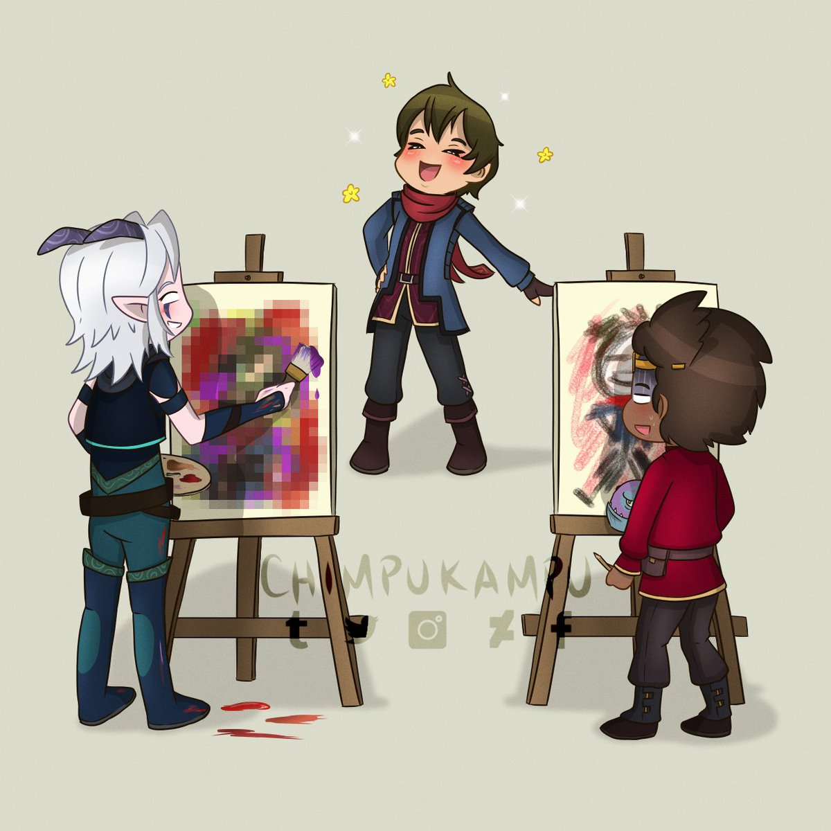"Draw your favorite artist ""challenge""  #TDP #TheDragonPrince #DragonPrince #Rayllum #Callum #Rayla #Ezran #Fanart #DigitalArt https://t.co/fahMMiY1Pf"