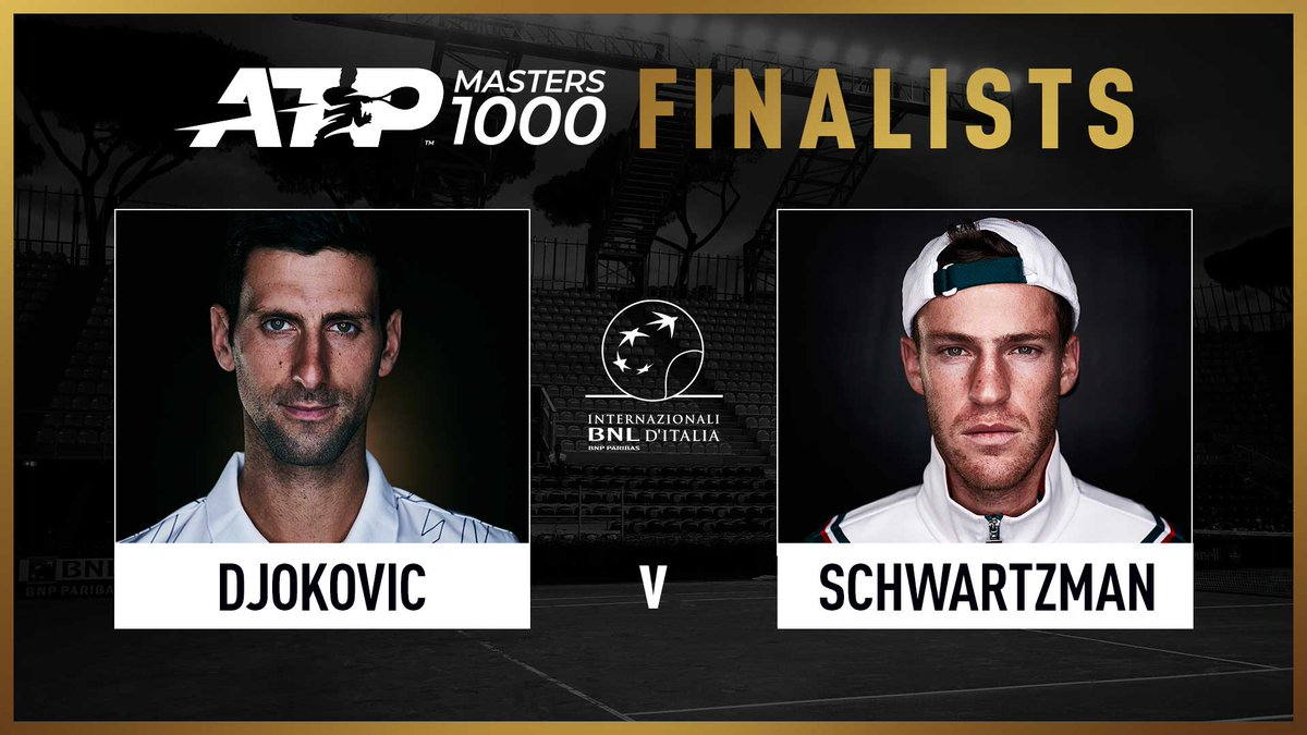 Two gladiators remain in Rome! ⚔️   Who will take the title? 🏆  @DjokerNole | @dieschwartzman | #IBI20 https://t.co/byjbIoO1hi