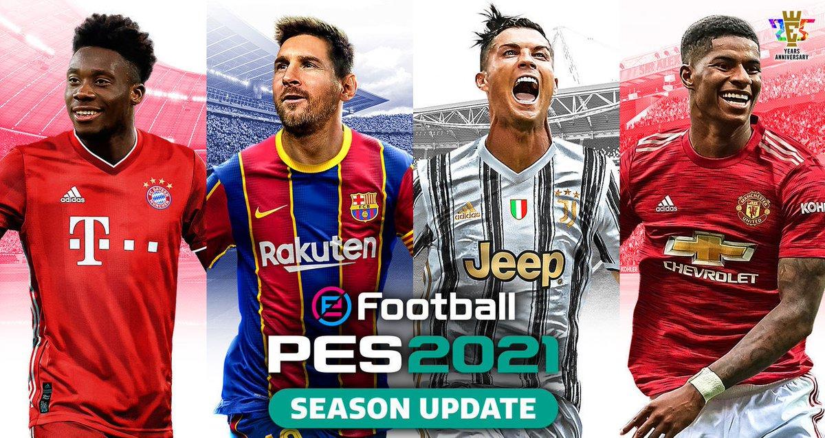 La actualización de eFootball PES 2021 ya se encuentra disponible - https://t.co/sVSxItx5kR - #EFootballPES2021 https://t.co/o5sQzCLPWE