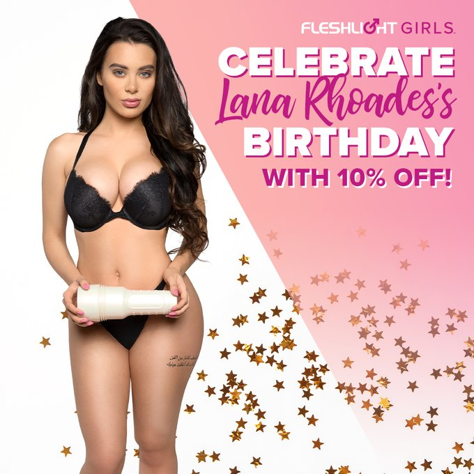 Celebrate Fleshlight Girl @LanaRhoades's birthday ALL MONTH with 10% off her Fleshlight by using coupon