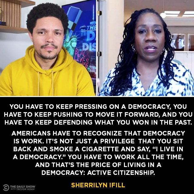 President and Director-Counsel of the NAACP Legal Defense Fund, @Sifill_LDF, explains the price of democracy: active citizenship. Full interview: https://t.co/yooWQQ7elB https://t.co/l7CziuBZ8I