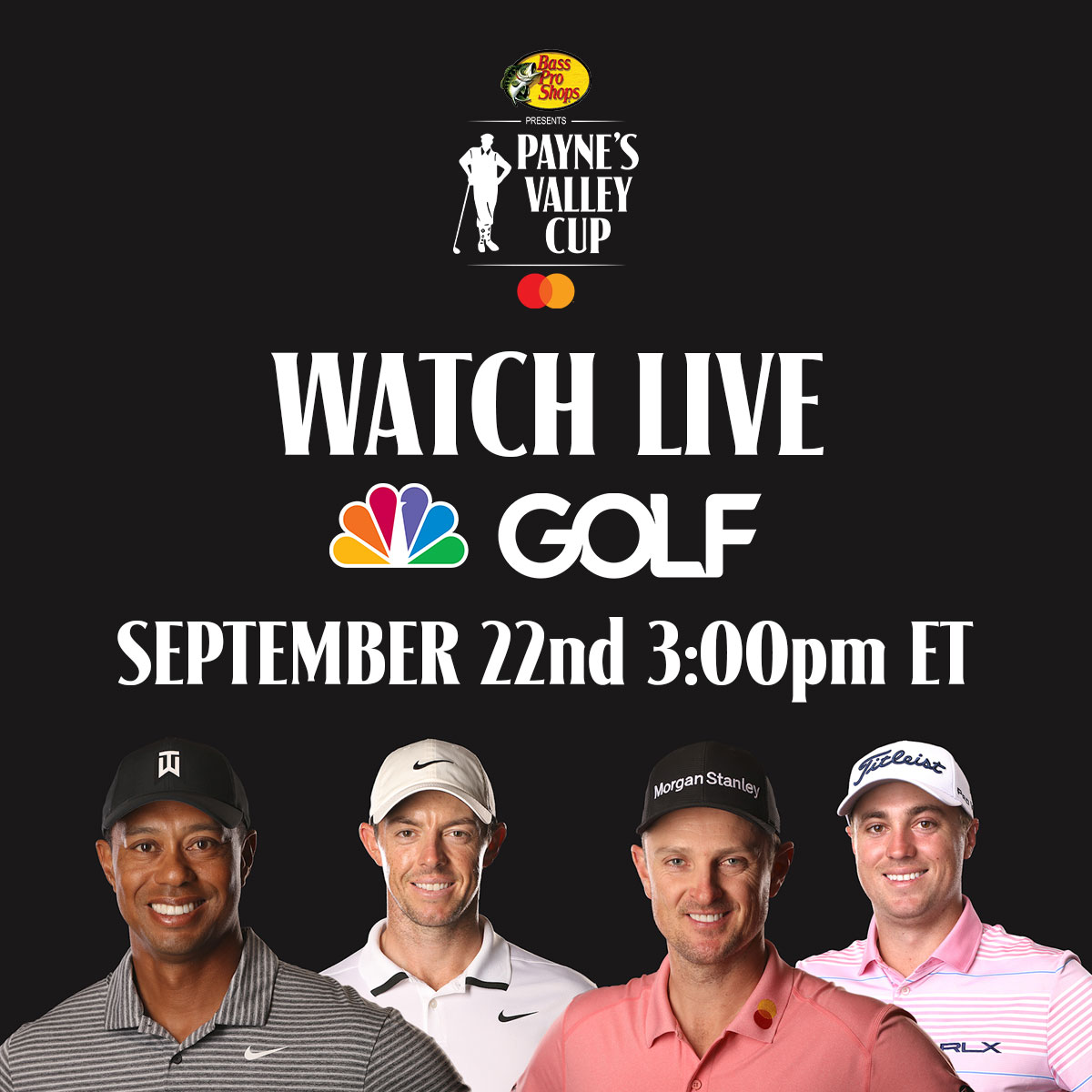 A must-see event! Join us as we watch Team America versus Team Europe at the #PaynesValleyCup at @GolfBigCedar on Sept. 22nd from 3pm - 7pm ET on @GolfChannel. https://t.co/iaP9Ux23wk