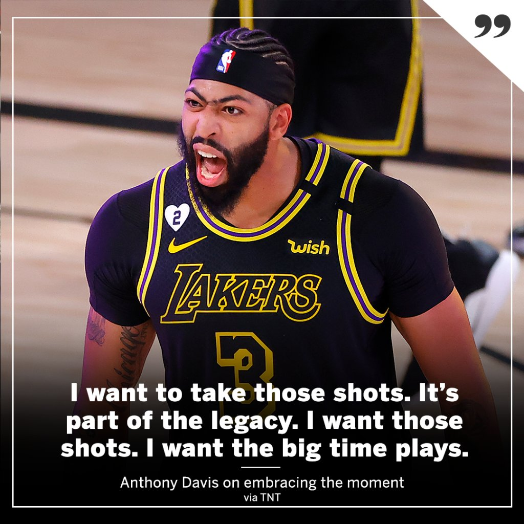 AD says this is what the Lakers got him for 🔥