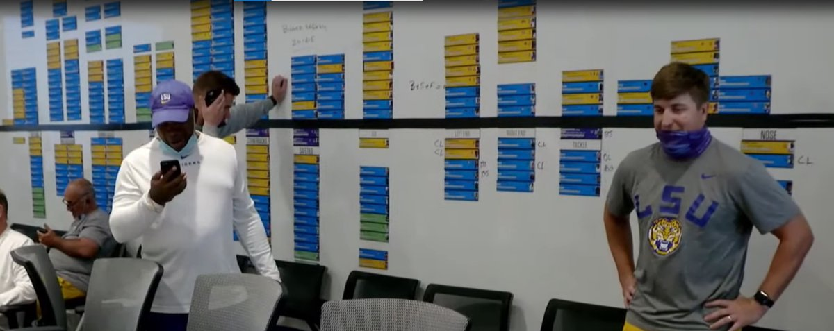 Okay.. and yeah I'm guilty of playing around with it on my computer myself, but all you recruiting guys trying to screen grab and blow up that #LSU wall won't have any luck.  I'm told that in post-production 60 minutes blurred all the names on the recruiting wall. https://t.co/uEJufoZVGo