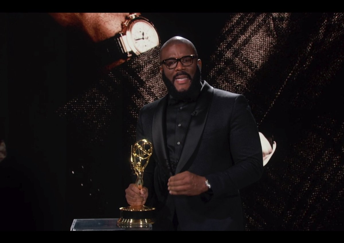Wow! @TylerPerry with a PHENOMENAL Emmys speech. Touched on everything! Congrats King.