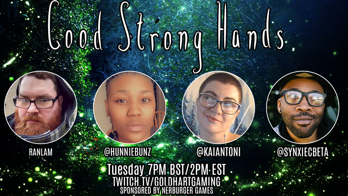 Come with us as we regale a tale of wonder set in our own Reverie, see what magical world we have built as we battle against the void. Using Nerdburger Games new system Good Strong Hands Delight in our whimsy and come create your own. w/ Ran @HunnieBunz  @KaiAntoni  @synxiecbeta https://t.co/AJUsR3F9Df