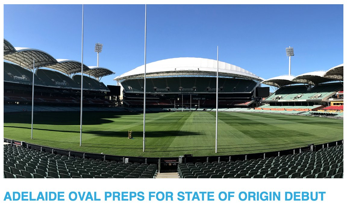 The 2020 State of Origin series will kick-off in Adelaide for the first time in history after the NRL announced @TheAdelaideOval (head curator Damian Hough) will host the opening State of Origin match on Nov 4  Read more in the latest edition of The Cut https://t.co/FOzoDVuitK https://t.co/miQw5xEUpr