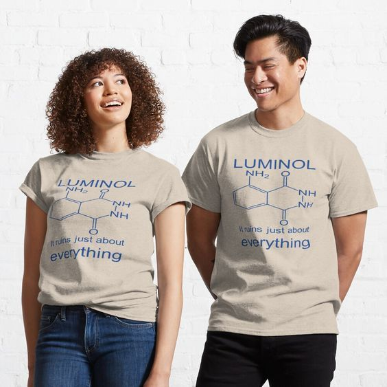 #Forensics #Glow - #Luminol It Ruins Just About Everything #Tshirt by taiche | Redbubble #Affordable and excellent quality, #quirky design and it made a fantastic #gift. #ATSocialMedia @redbubble Choice of 17 colors now in sizes up to 5xl #findyourthing https://t.co/A2t7BzaBr9 https://t.co/qCWmlODm7D