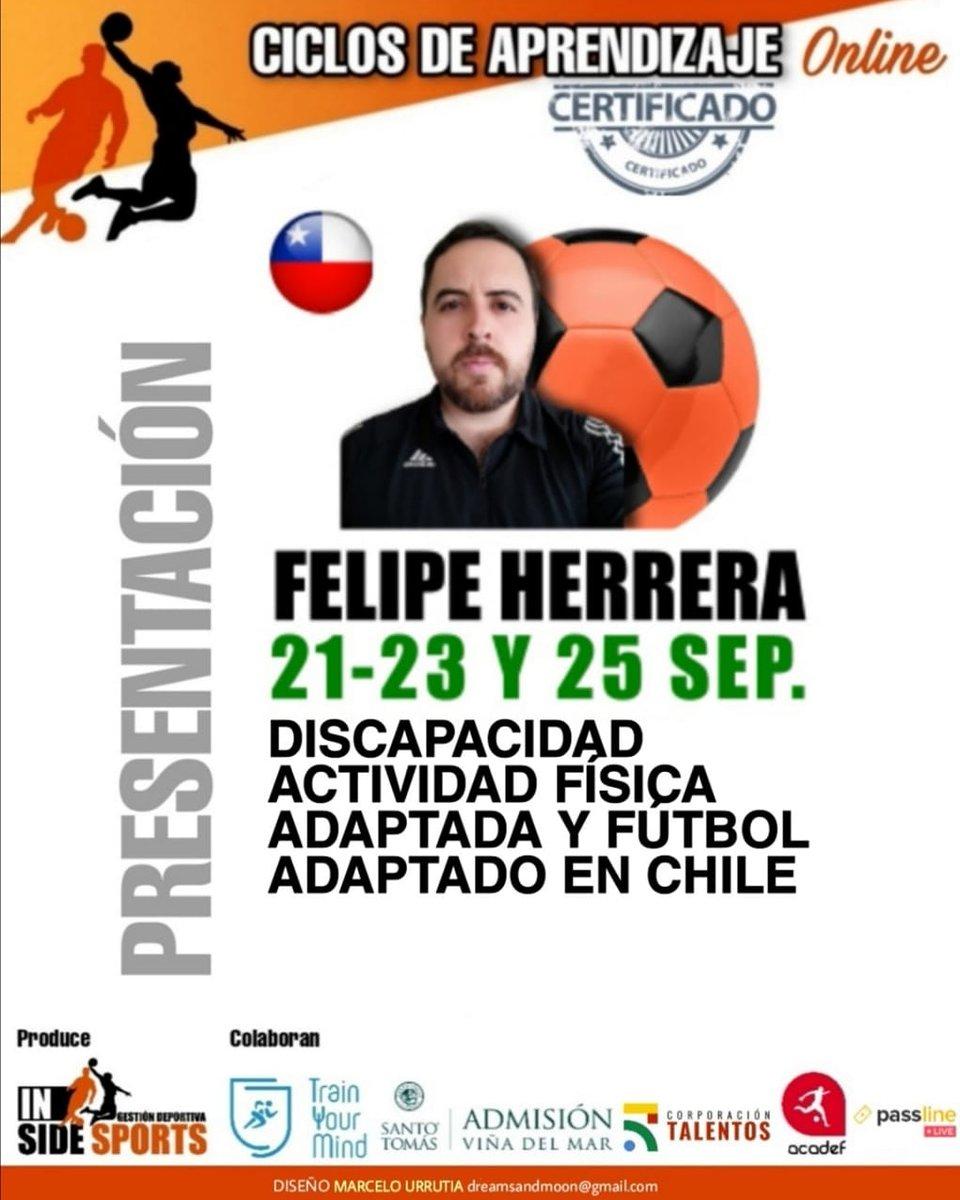 Atención Chile 🇨🇱 y toda persona que busque capacitación en deportes. Últimos cupos, cursos certificados, más info en  https://t.co/IlGZkC39vO https://t.co/04Qk7Mt42m