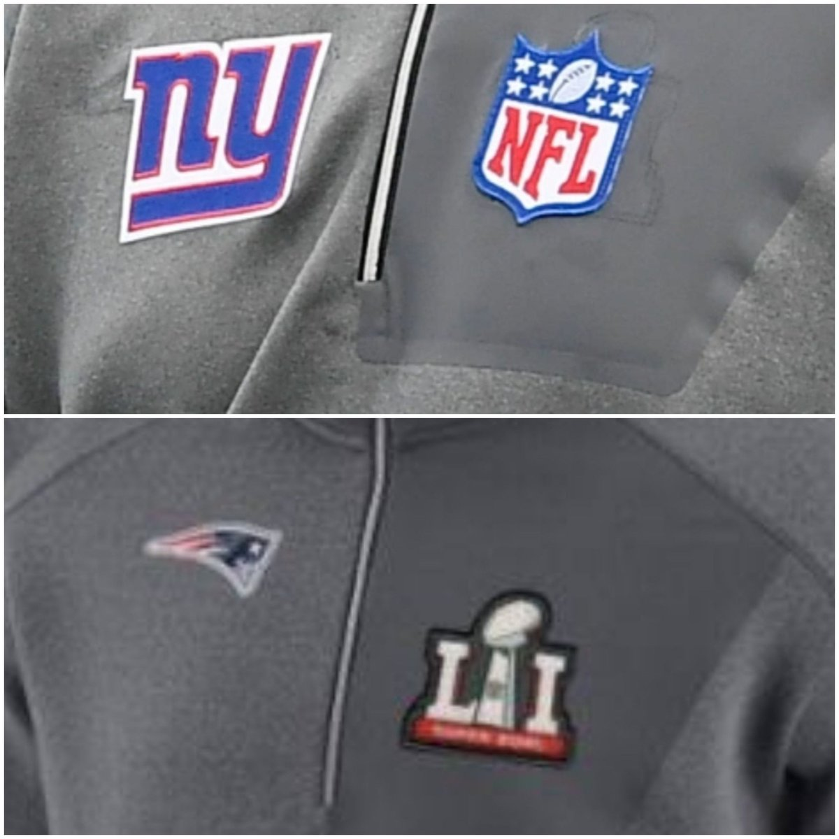 @yovinney @UniWatch Cleaner image of wear Judge's Super Bowl patch was with the outline of the SB 51 logo visible. https://t.co/G61fFd3QiJ