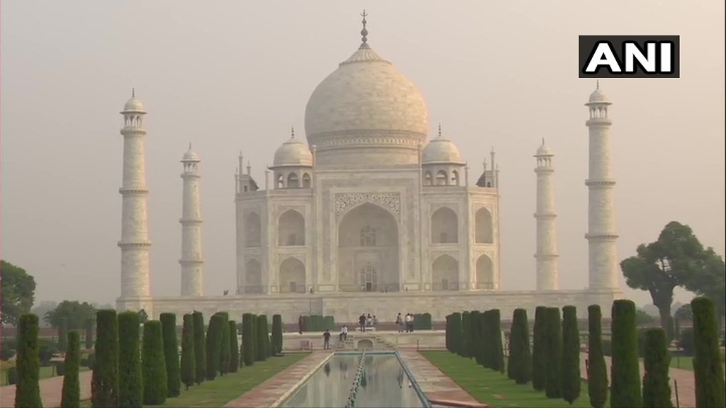 Agra: Thermal screening of visitors being done at Taj Mahal, as the monument reopens for public from today.