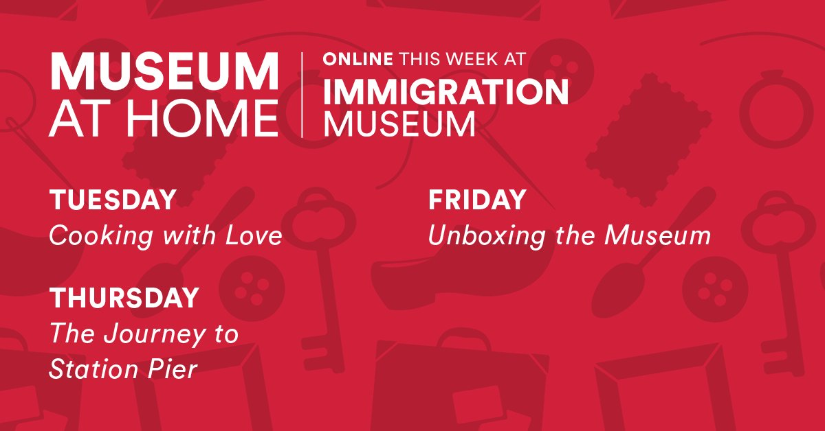 What is your week ahead looking like? 🤔 Here's everything you can look forward to from us here at ImmigrationMuseum, this week! #ImmigrationMuseum #MuseumAtHome #WhatsOn https://t.co/eIA0EYwuZE