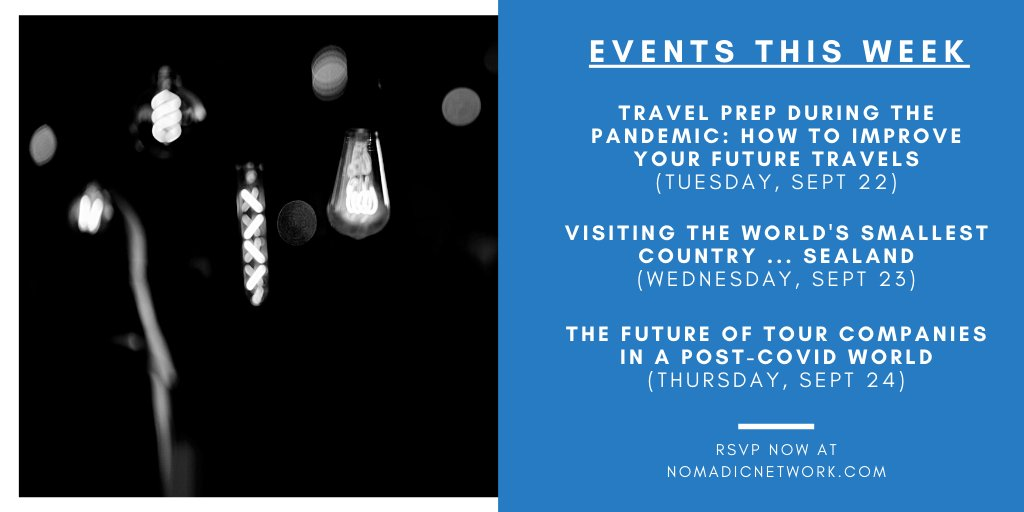 We got 4 events this week, including one with me, @Walks, and @Intrepid_Travel on the future of tours! Sign up for free: https://t.co/MnDnNHRvXc https://t.co/Uk3v8ohJsq