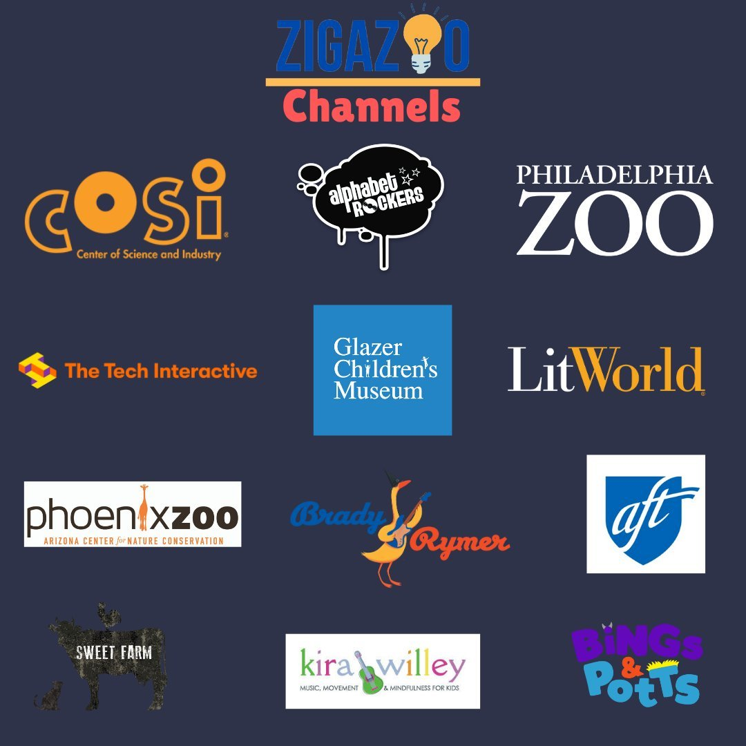 Check out the education channels from @GetZigazoo  and the new partner @GlazerMuseum https://t.co/E4Sjz3Q4tQ #education #edchat #distancelearning #educhat #PBL #iste https://t.co/JvdIBT4vwr