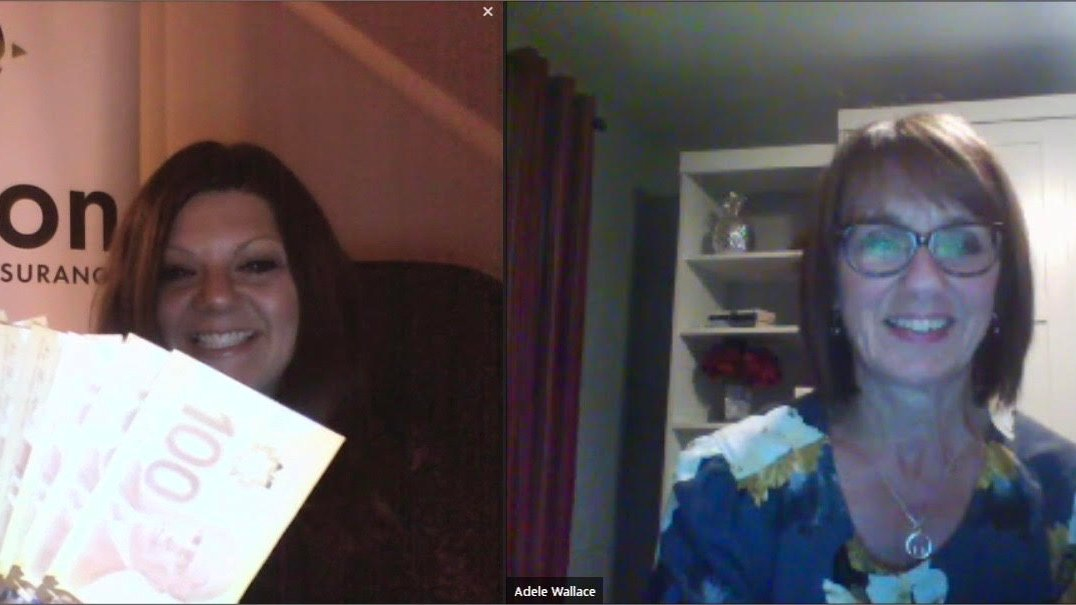 The lucky winner of $1,000 from @Wilsonlnsurance is Adele Wallace! And that's a wrap on our first virtual AGM! #NBpharmacists https://t.co/zFLTuTznFS