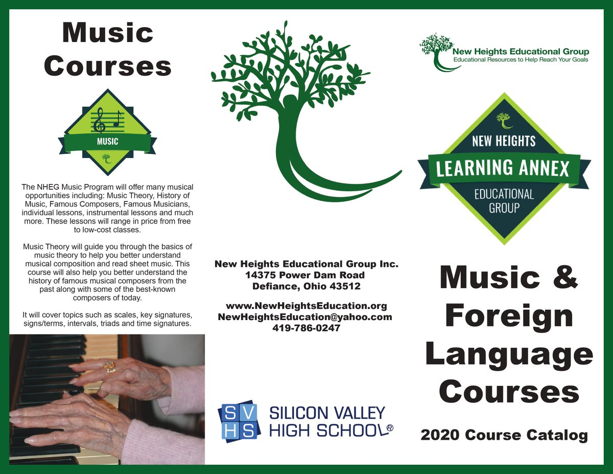 NHEG Courses  https://t.co/JsCPEXve1B  #onlinelearning #courses #music #foreignlanguage #Japanese #Spanish #Chinese #education #homeschooling #svhs #siliconvalleyhighschool #aroundtheworld #classroom #information #students #parents #teachers #kids #children #checkitout #school https://t.co/R1yzmakE4P