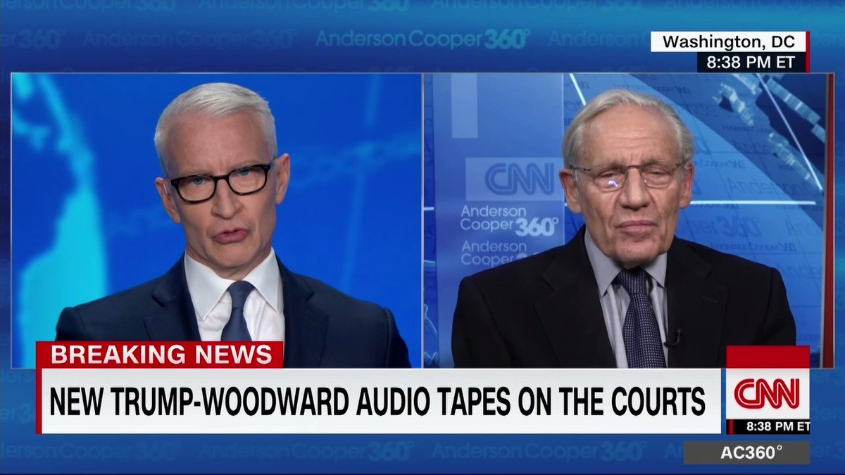 "Journalist Bob Woodward reveals new tapes in which President Trump touts his record on seating federal judges, saying he expects to have appointed ""more than 50% of the federal judges in the country"" by the time he leaves office. cnn.it/3hPU5cC"